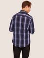 ARMANI EXCHANGE REGULAR-FIT OMBRE PLAID SHIRT Checked Shirt [*** pickupInStoreShippingNotGuaranteed_info ***] e