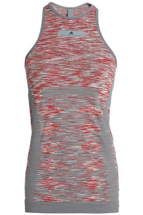ADIDAS by STELLA McCARTNEY Marled stretch-jersey tank
