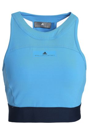 ADIDAS by STELLA McCARTNEY Cropped cutout stretch top