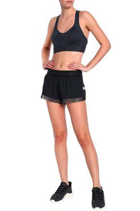 ADIDAS by STELLA McCARTNEY Cutout mesh-paneled stretch-jersey sports bra