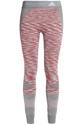 ADIDAS by STELLA McCARTNEY Marled stretch-jersey leggings
