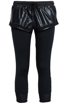 ADIDAS by STELLA McCARTNEY Layered shell and stretch-jersey leggings