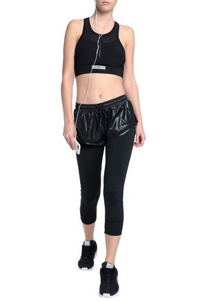 1889a9983b3a9 ADIDAS by STELLA McCARTNEY Layered shell and stretch-jersey leggings