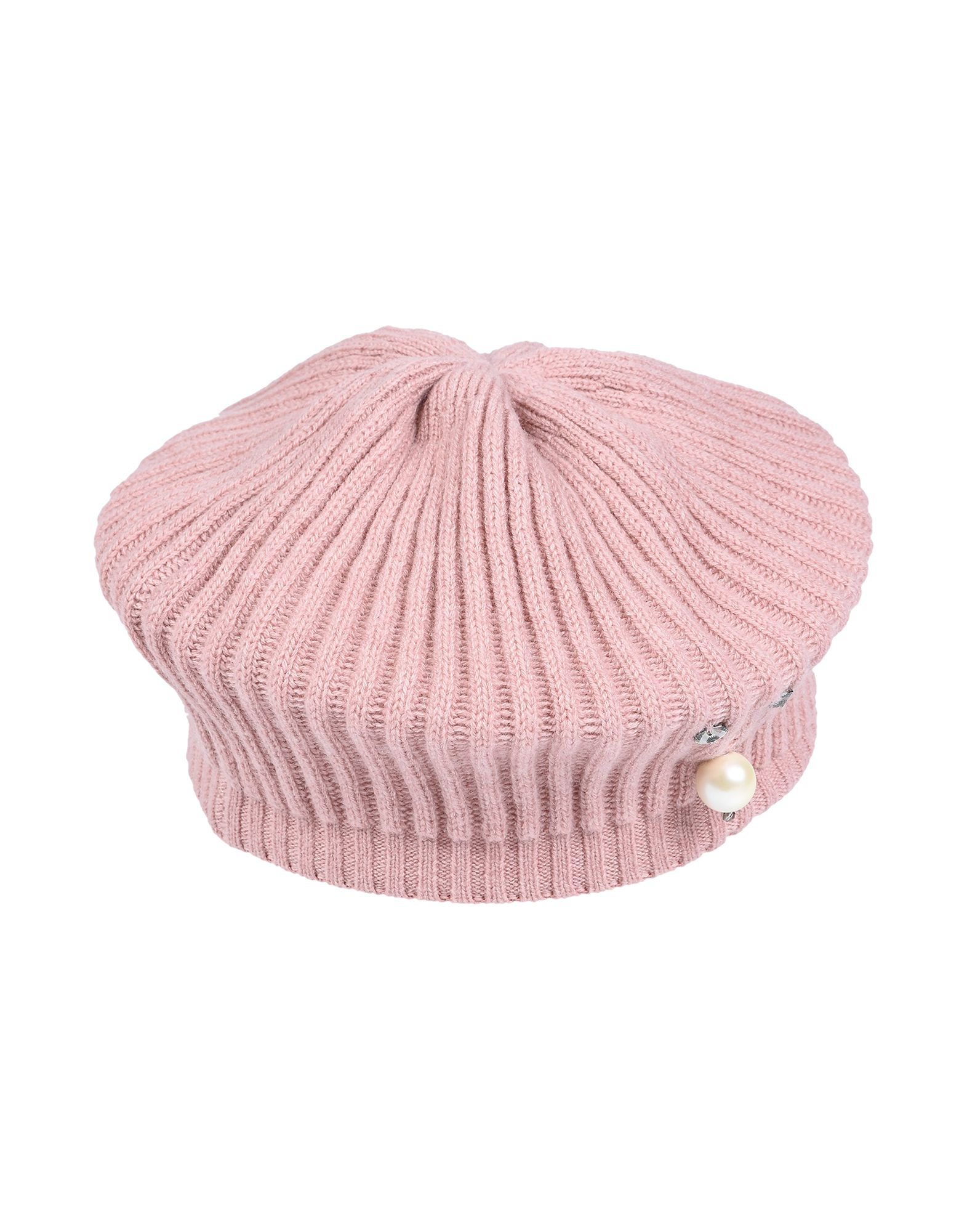《送料無料》INVERNI レディース 帽子 パステルピンク one size カシミヤ