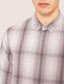 ARMANI EXCHANGE REGULAR-FIT OMBRE PLAID SHIRT Checked Shirt [*** pickupInStoreShippingNotGuaranteed_info ***] b