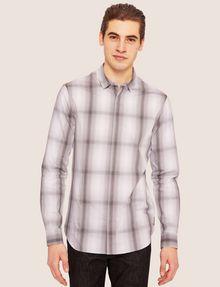 ARMANI EXCHANGE REGULAR-FIT OMBRE PLAID SHIRT Checked Shirt [*** pickupInStoreShippingNotGuaranteed_info ***] f