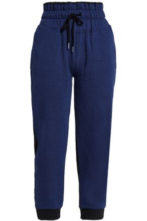 ADIDAS by STELLA McCARTNEY French cotton-blend terry track pants