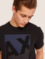 ARMANI EXCHANGE REGULAR-FIT MULTI STRIPE LOGO CREW Logo T-shirt [*** pickupInStoreShippingNotGuaranteed_info ***] b