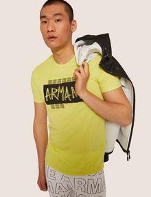 ARMANI EXCHANGE SLIM-FIT GRAFFITI OVERLAY CREW Logo T-shirt [*** pickupInStoreShippingNotGuaranteed_info ***] a