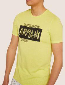 ARMANI EXCHANGE SLIM-FIT GRAFFITI OVERLAY CREW Logo T-shirt [*** pickupInStoreShippingNotGuaranteed_info ***] b