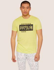 ARMANI EXCHANGE SLIM-FIT GRAFFITI OVERLAY CREW Logo T-shirt [*** pickupInStoreShippingNotGuaranteed_info ***] f