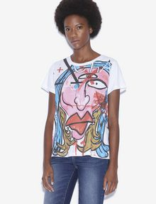 ARMANI EXCHANGE WOMEN'S STREET ART BY ANDREA MARCACCINI CREWNECK TEE Graphic T-shirt Woman f