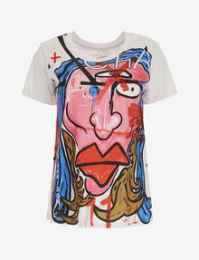 ARMANI EXCHANGE WOMEN'S STREET ART BY ANDREA MARCACCINI CREWNECK TEE Graphic T-shirt Woman r