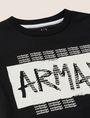 ARMANI EXCHANGE BOYS SLIM-FIT GRAFFITI OVERPRINT LOGO CREW Logo T-shirt [*** pickupInStoreShippingNotGuaranteed_info ***] d