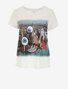 ARMANI EXCHANGE WOMEN'S STREET ART BY JISBAR CREWNECK TEE Graphic T-shirt [*** pickupInStoreShipping_info ***] r