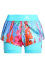 ADIDAS by STELLA McCARTNEY Printed layered stretch-jersey and techno fabric shorts