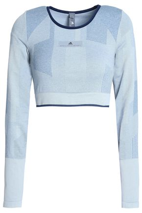 ADIDAS by STELLA McCARTNEY Cropped stretch-jersey top