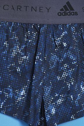 ADIDAS by STELLA McCARTNEY Layered printed shell shorts