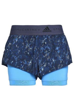 ADIDAS by STELLA McCARTNEY Layered printed shell shorts