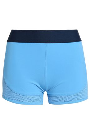 ADIDAS by STELLA McCARTNEY Mesh-paneled stretch-jersey shorts