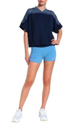 ADIDAS by STELLA McCARTNEY Mesh-paneled stretch-jersey shorts
