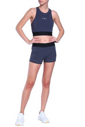 ADIDAS by STELLA McCARTNEY Mesh-trimmed stretch shorts