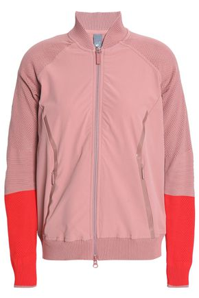 ADIDAS by STELLA McCARTNEY Cutout two-tone shell jacket