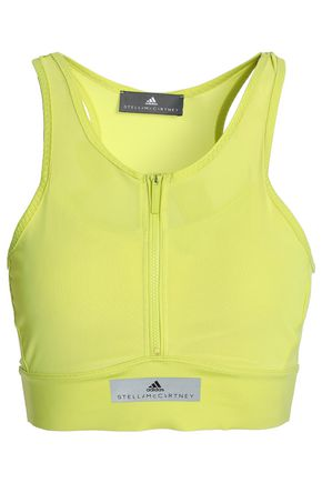 ADIDAS by STELLA McCARTNEY Cutout mesh-paneled stretch-jersey sports bra