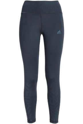 ADIDAS Printed stretch-jersey leggings