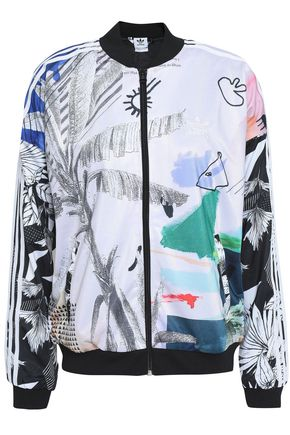 ADIDAS ORIGINALS Printed stretch-jersey jacket