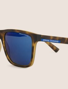 ARMANI EXCHANGE BLUE MIRRORED TORTOISE CLASSIC SUNGLASSES Sunglass [*** pickupInStoreShippingNotGuaranteed_info ***] d