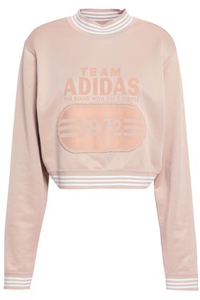 ADIDAS ORIGINALS Printed French-terry sweatshirt