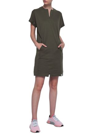 ADIDAS ORIGINALS French cotton-terry mini dress