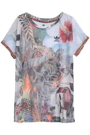 ADIDAS ORIGINALS Printed mesh T-shirt