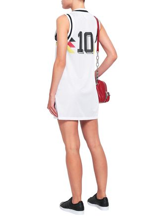 ADIDAS ORIGINALS Printed mesh mini dress