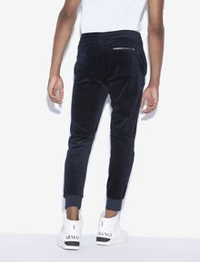 ARMANI EXCHANGE METALLIC LOGO VELVET JOGGER Fleece Pant [*** pickupInStoreShippingNotGuaranteed_info ***] e