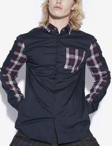 ARMANI EXCHANGE SLIM-FIT PIECED PLAID SHIRT Checked Shirt [*** pickupInStoreShippingNotGuaranteed_info ***] a