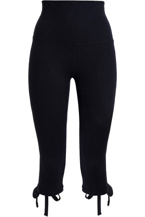 BA&SH x ANA HEART Cropped tie-detailed stretch-jersey leggings