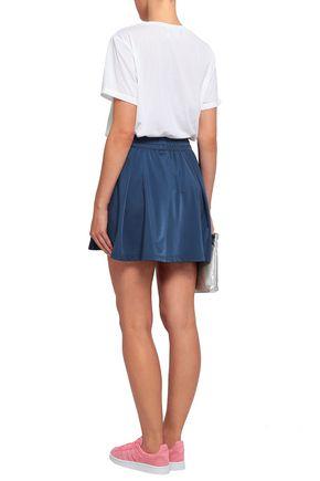 ADIDAS ORIGINALS Pleated jersey mini skirt