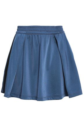 ADIDAS ORIGINALS Pleated jersey mini skirt