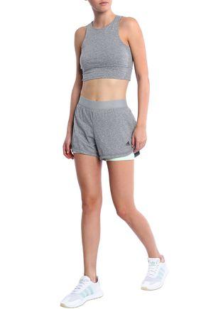 ADIDAS Layered tech and stretch-jersey shorts