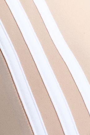 ADIDAS ORIGINALS Striped stretch-jersey bodysuit