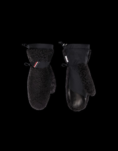 Moncler Scarves & Gloves Man: FUR-TRIMMED GLOVES