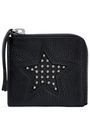 McQ Alexander McQueen Studded pebbled-leather coin purse