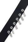 VERSUS VERSACE Embellished leather belt