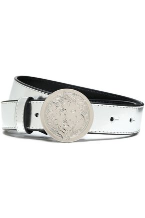 VERSUS VERSACE Metallic leather belt