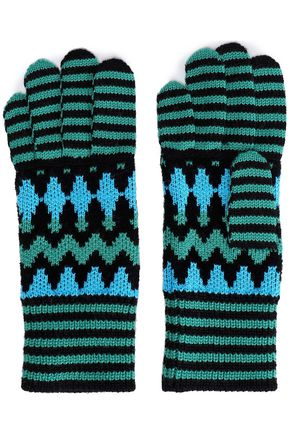 MISSONI Wool-blend jacquard gloves