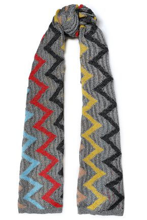 MISSONI Metallic jacquard-knit scarf
