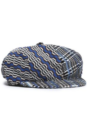 MISSONI Prince of Wales checked wool-blend hat