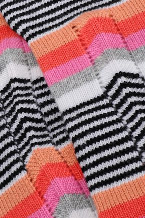 MISSONI Striped wool gloves